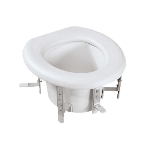 """Medline Universal Raised Toilet Seat,Seat Elevation: 4.75"""" to 6.75"""" (12cm to 17cm),Each,MDS80315"""