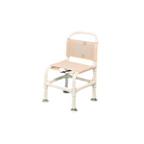 Duralife Bath Tub Shower Chair With Suction Cups,Beige - Mesh,Each,DLF-85