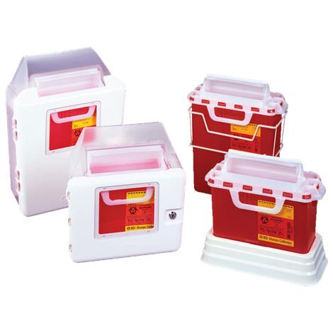 BD Patient Exam Room Collector,3gallons,Red,Horizontal Entry,10/Case,305436
