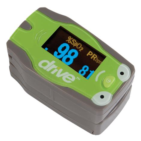 "Drive Pediatric Fingertip Pulse Oximeter,For Finger Size: 0.3"" to 1"",Each,18707"