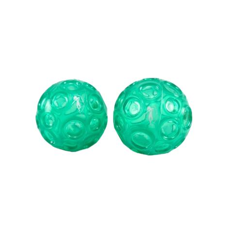 OPTP Franklin Textured Ball Set,Emerald Green,2/Pack,LE9001 OPTLE9001