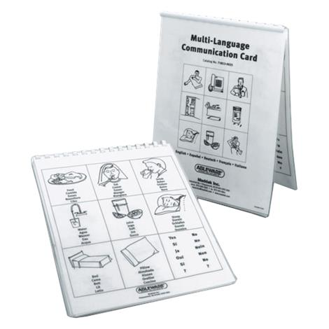 Maddak Multi Language Communication Cards,Cards,Each,H718130025