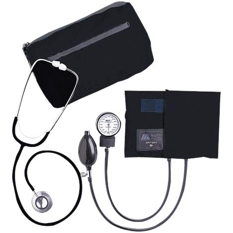 Mabis DMI MatchMates Dual Head Stethoscope Combination Kit,Burgundy,Each,01-260-071