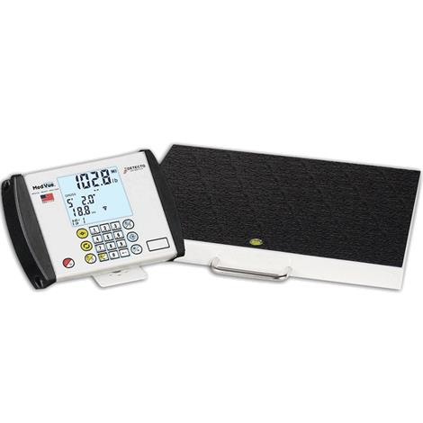 Detecto GP Portable Low Profile Digital Scale,Weight Capacity: 600 x 0.2 lb / 270 x 0.1 kg,Each,GP-600-MV1