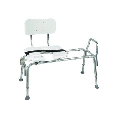 Mabis DMI Heavy-Duty Sliding Transfer Bench with Cut-Out Seat,Sliding Transfer Bench,Each,522-1734-1900