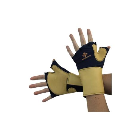 IMPACTO Fingerless Glove With Wrist Support,Large,Pair,704-20-L