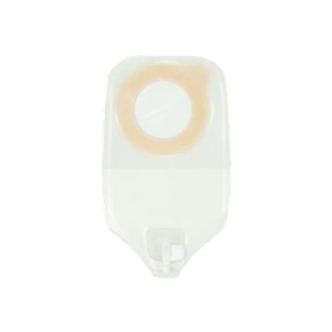 """ConvaTec Esteem Synergy Two-Piece Urostomy Pouch With Accuseal Tap With Valve,Short: 9.3""""L,Medium,Transparent,10/Pack,405447"""