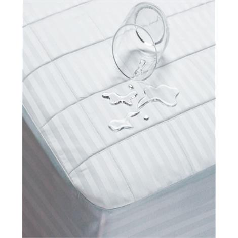 "Bargoose Four Ply Quilted Waterproof Mattress Pads,CalKing,72"" x 84"" x 18"",Each,16091"