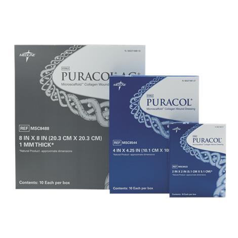"Medline Puracol Collagen Dressing,2"" x 2"",10/Pack,MSC8522Z"