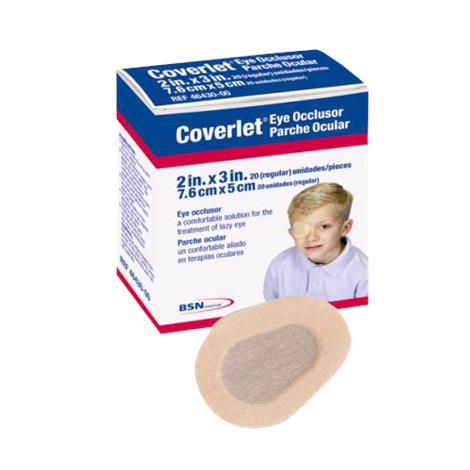BSN Jobst Coverlet Flexible Fabric Adhesive Eye Occlusor,Regular Size,2 x 3,12/Pack,46430