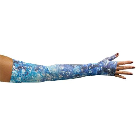 LympheDivas Sapphire Compression Arm Sleeve And Gauntlet,Each,SAPPHIRE SAPPHIRE