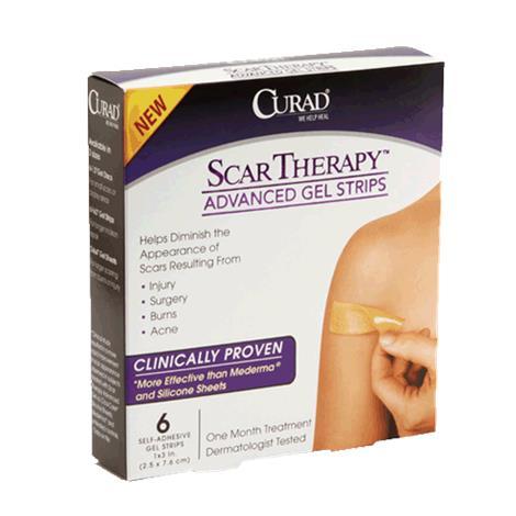 "Medline Curad Advanced Scar Therapy Gel Strips,1""W x 3""L (2.5cm x 7.6cm),6/Pack,24Pk/Case,CUR0023"