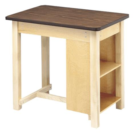 Bailey End Shelf Taping Table With H Brace