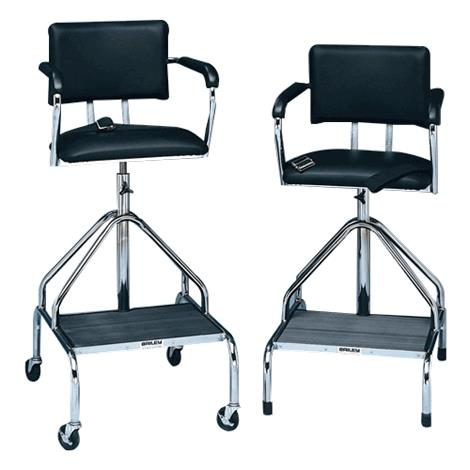 """Bailey Padded Black Whirlpool Chair,With Casters,Height Adjust 33"""" to 46-1/2"""",Each,7700"""