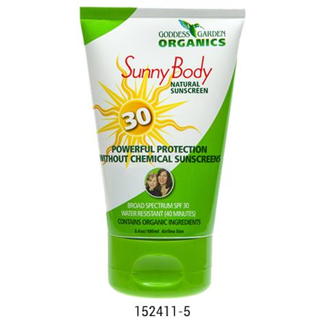 Goddess Garden SPF 30 Natural Body Sunscreen,8oz,Trigger Spray,Each,152413-1