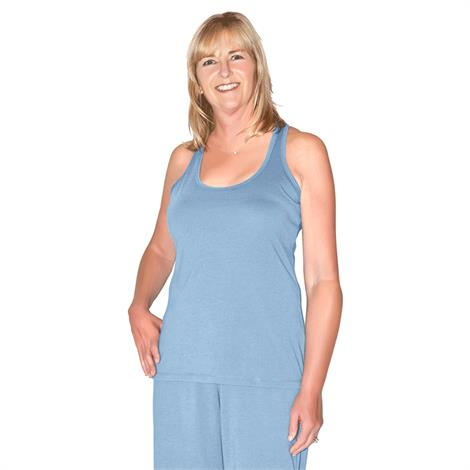 Cool Jams Mix And Match Racer Back Tank With Shelf Bra,Large,Periwinkle,Each,T2130