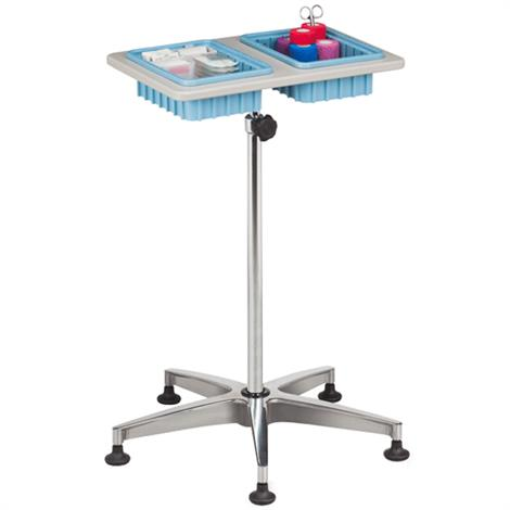 Clinton Two-Bin Mobile Phlebotomy Stand,Two-Bin Mobile Phlebotomy Stand,Each,6902 CTN6902