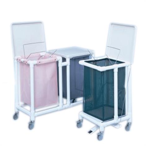 Duralife Laundry Hamper With Hinged Lid,0,Each,700