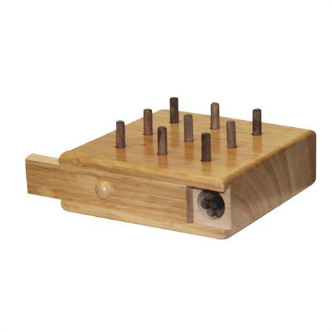"""Baseline Nine Hole Pegboard,8"""" x 3"""" x 8"""",Each,#12-3141"""