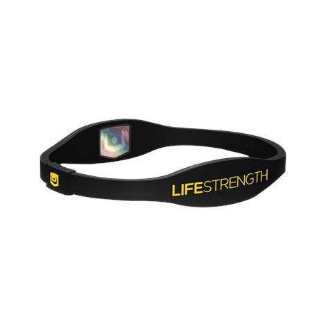 Lifestrength Pure Series Ion Wellness Wristband,Black/Gray,X-Small,Each,6832