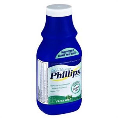 Bayer Phillips Milk Of Magnesia ,Fresh Mint,12 oz,Each,313000000000