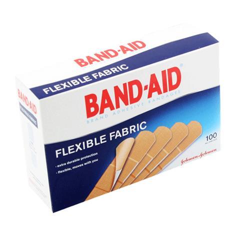 "Johnson & Johnson Band-Aid Flexible Fabric Strip Adhesive Bandage,1"" x 3"",100/Pack,12pk/Case,4444"
