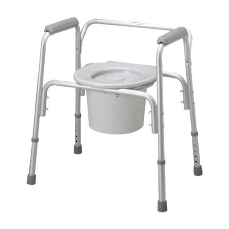 Medline Aluminum Bedside Commode,Aluminum Bedside Commode,4/Pack,MDS89664A MIMDS89664A