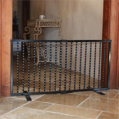 Cardinal Gates Wrought Iron Step Over Gate,Wrought Iron Step Over Gate Black,Each,WISG-BK