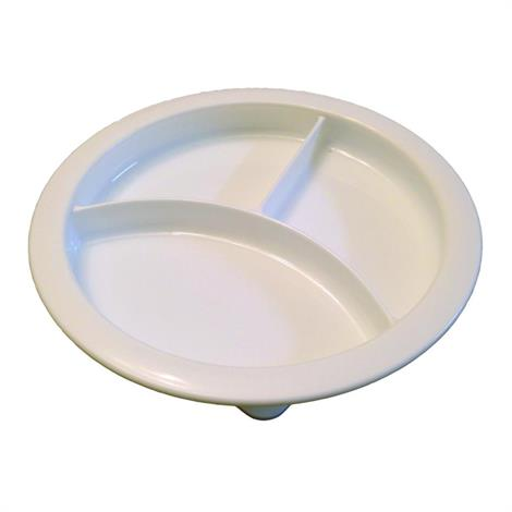 B&L Partitioned Scoop Dinner Plate,Scoop Dinner Plate,12/Pack,A-PSD