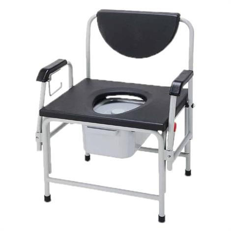 "ConvaQuip Bariatric Bedside Drop Arm Commode,Seat Width 26"",Each,726DAU-A"