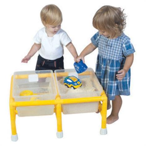 "Childrens Factory Mini Double Discovery Table,25"" x 18"" x 11"",Each,CF905-134"