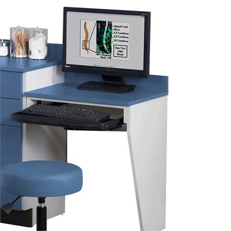 Clinton Computer Station Wall Mount Desk with One Leg,0,Each,079C