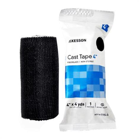 McKesson Fiberglass Cast Tape - Black,2 Inch X 12 Foot,10/Pack,115-2A