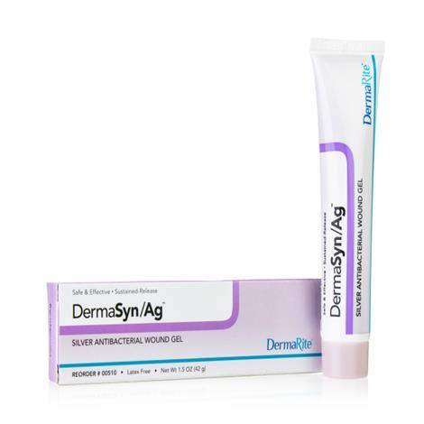 DermaRite DermaSyn/Ag Silver Wound Gel,1.5oz,12/Pack,510