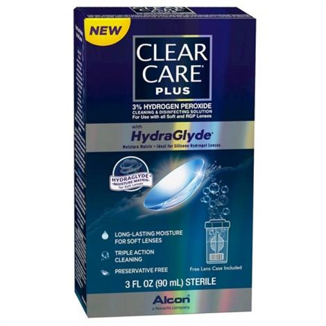Alcon Clear Care Plus Hydrogen Peroxide Cleaning and Disinfecting Solution,3 oz,24/Pack,65036342 - from $239.99