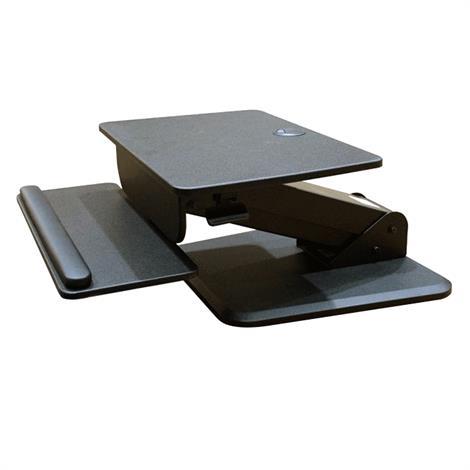 Hausmann Ergo Sit-Stand Desktop,Black,Each,R-1000