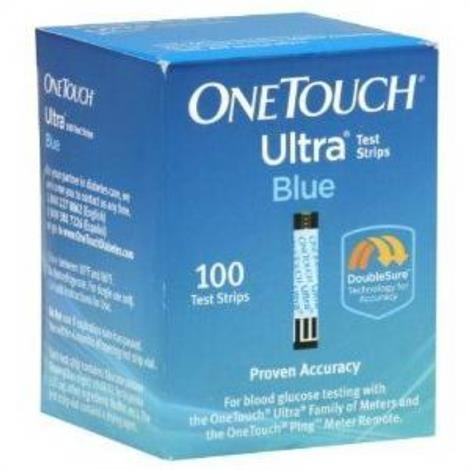 Lifescan OneTouch Ultra Blue Test Strip,with Double Sure Technology,100/Pack,22895