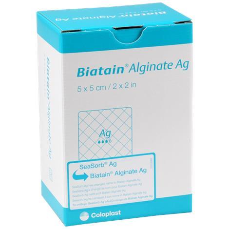 "Coloplast Biatain Alginate Ag Dressing,2"" x 2"" (5cm x 5cm),Each,3755"