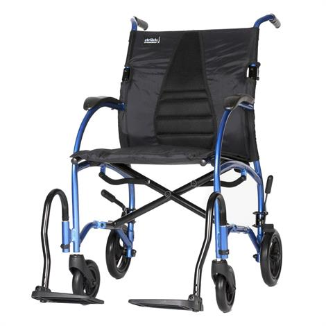 """Strongback Ergonomic Transport Wheelchair,Regular Seat (18"""") With 12"""" Rear Wheels With Attendant Brakes,Each,1003AB"""