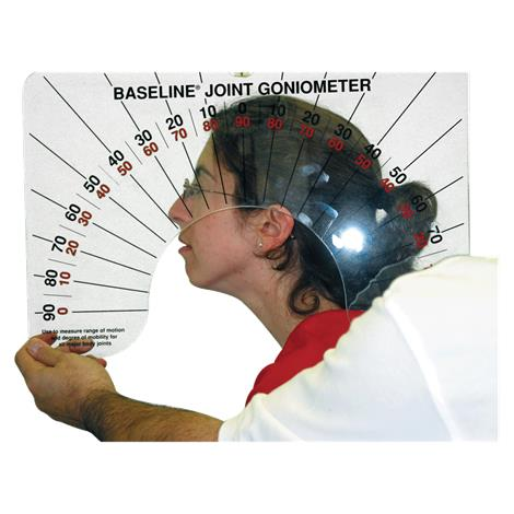 "Baseline Large Joint Arthrodial Protractor Goniometer,11.75"" x 0.25"" x 18"",Each,#12-1076"