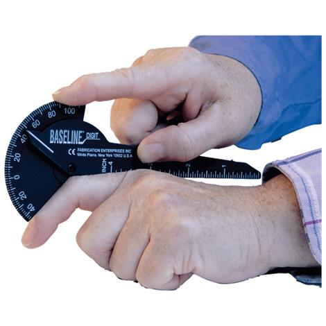 Baseline Plastic 180 Degree Digit Finger Goniometer,1 Finger Design,6 inches,Each,#12-1014