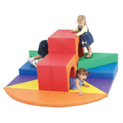 "Childrens Factory Tunnels Of Fun Soft Climber,64"" x 64"" x 28"",Each,CF322-051"