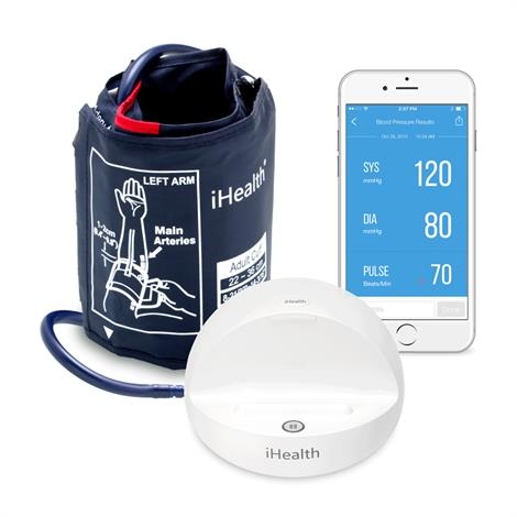 """iHealth Ease Wireless Pressure Monitor,Large,Cuff circumference: 11.8"""" to 16.5"""",Each,BP3LLG"""