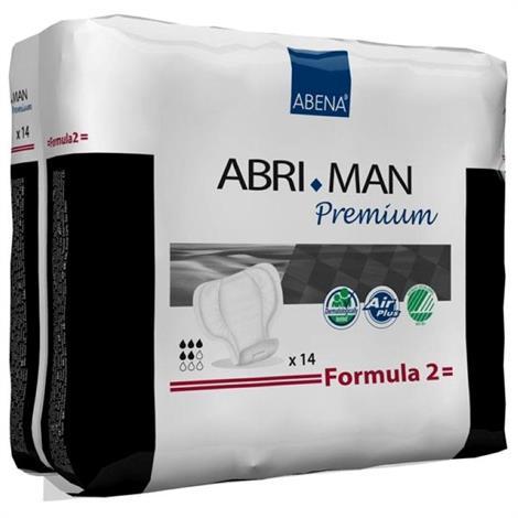 Abena Abri-Man Premium Male Incontinence Pads - Formula 2,23cm x 29cm,700ml Absorbency,14/Pack,12Pk/Case,41007
