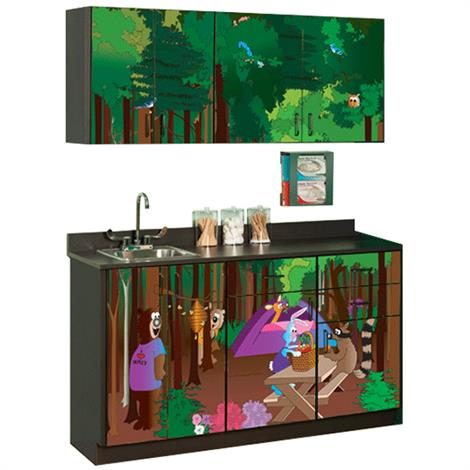 Clinton Pediatric Fun Series Cool Park Campgrounds Base and Wall Cabinets,0,Each,6150-BW