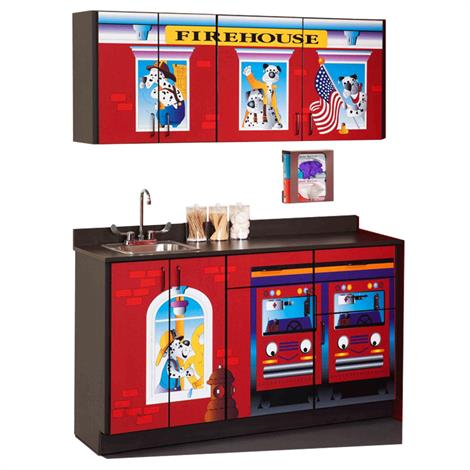 Clinton Pediatric Fun Series Firehouse Base and Wall Cabinets,0,Each,6130-BW