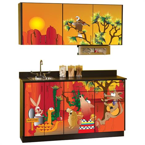 Clinton Pediatric Imagination Series Southwestfest Base and Wall Cabinets,0,Each,6152-BW