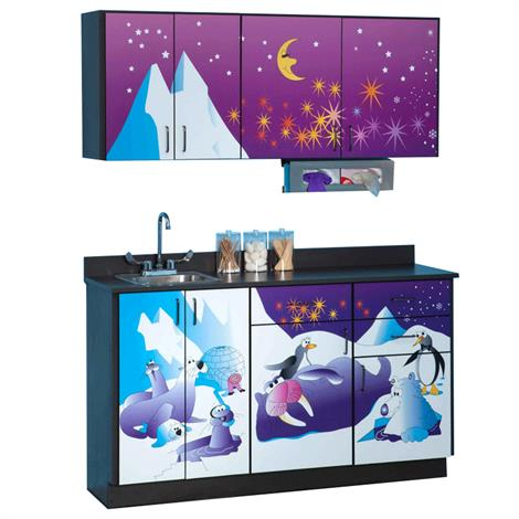 Clinton Pediatric Imagination Series Cool Pals Base and Wall Cabinets,0,Each,6131-BW