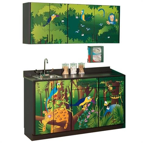 Clinton Pediatric Imagination Series Rainforest Follies Base and Wall Cabinets,0,Each,6132-BW