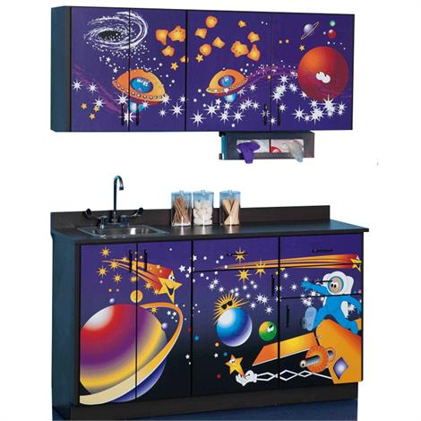 Clinton Pediatric Imagination Series Space Place Base and Wall Cabinets,0,Each,6135-BW